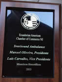 Ecuadorian Chambers Honors Ironbound Leaders